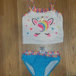 Girls 3T 2 piece unicorn swimsuit